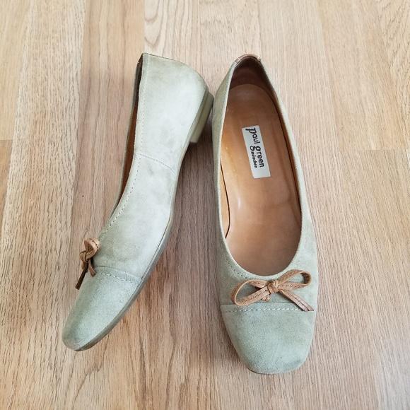 Paul Green Munchen Mint Green Suede Flats